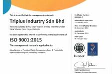 ISO 9001:2015 Cert. No: Q103888-3