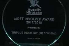 2017/ 2018 - AUTOLIV HIROTAKO - Most Involved Award