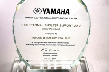 2019 - YAMAHA - Exceptional Supplier Support